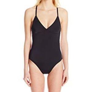 NWT Norma Kamali black Fara one piece swimsuit
